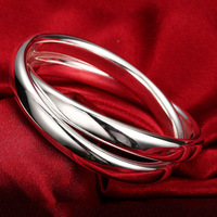 2017 Free Shipping Wholesale 925 Sterling Silver Fashion Jewelry 925 Silver Bangle Cuff 925 Silver Bangle
