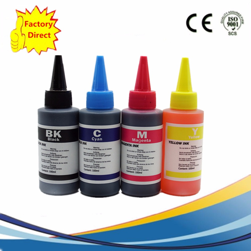 High Quality Specialized 4 x 100ml Dye Based Ink Kit For HP Premium Dye Ink General