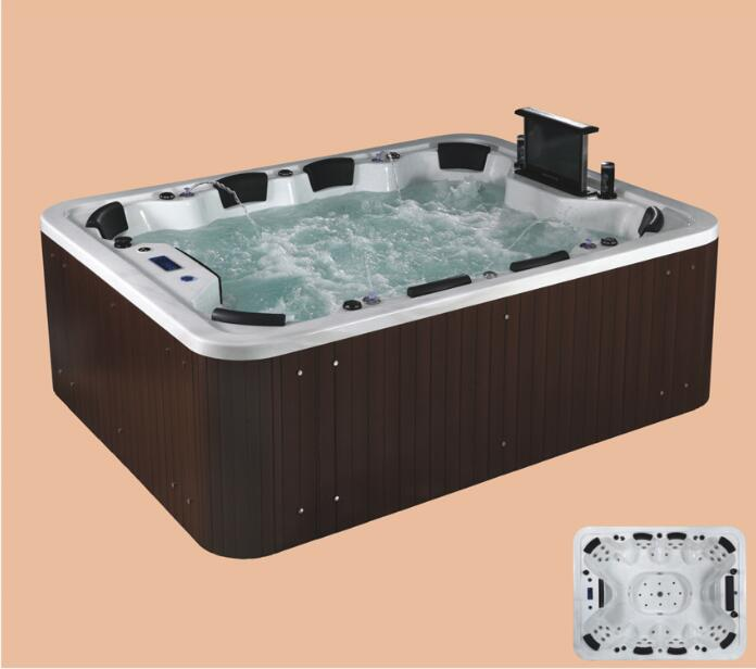 2690mm Swimming Pool whirlpool Bathtub Acrylic Hydromassage Surfing 8 People Seats With TV Outdoor SPA NS2007