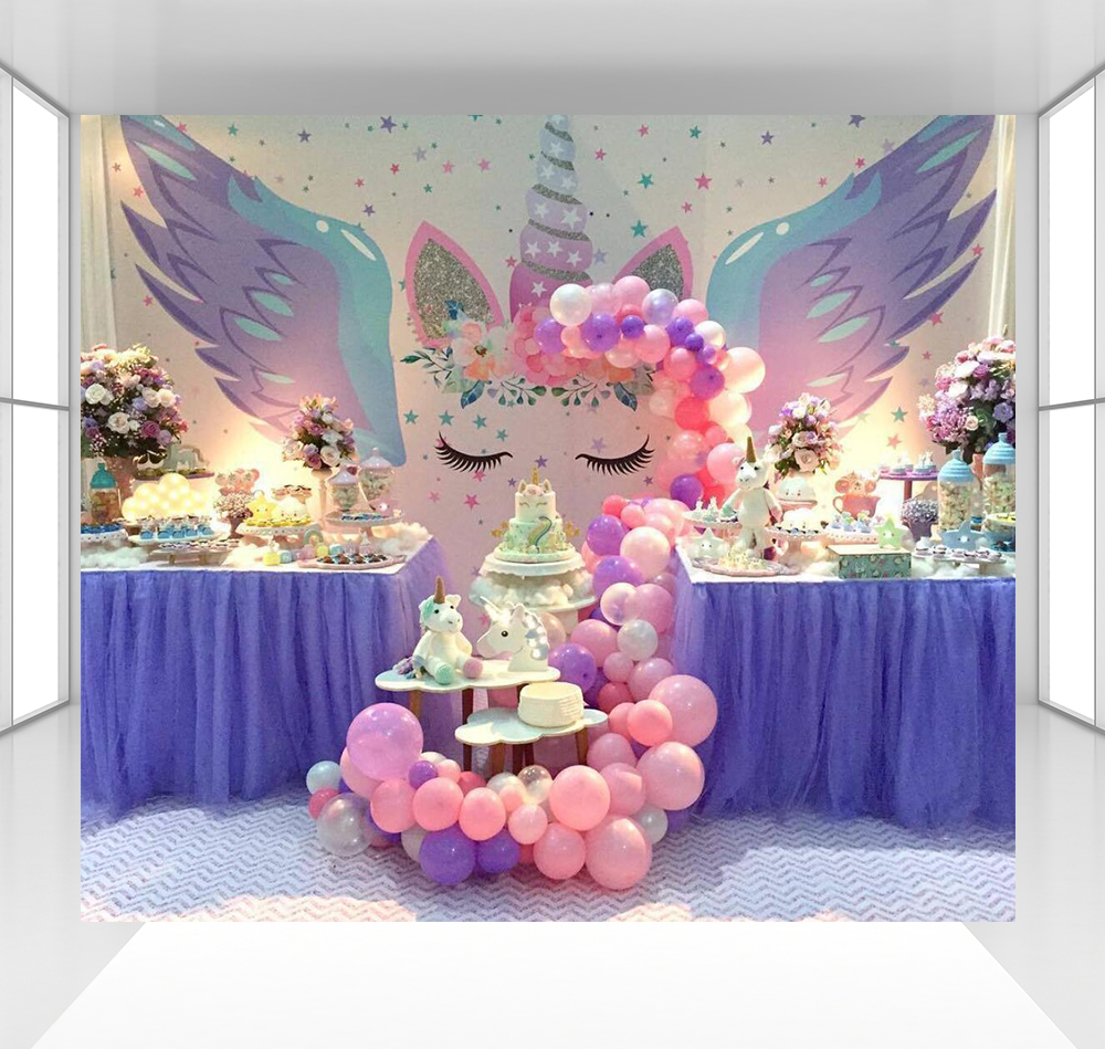 Unicon photography backdrops  baby shower photo studio props photo booth shoot birthday party decor table dessert CZ-145Unicon photography backdrops  baby shower photo studio props photo booth shoot birthday party decor table dessert CZ-145