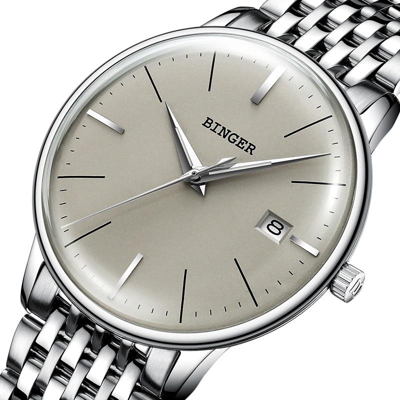 Neue BINGER Mechanische Uhr Männer Marke Luxus männer Automatische Uhren Sapphire Armbanduhr Männlichen Wasserdicht Reloj Hombre B5078M 4-in Mechanische Uhren aus Uhren bei  Gruppe 1