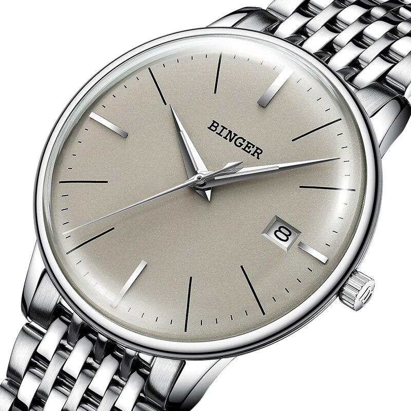 Nieuwe BINGER Mechanisch Horloge Mannen Merk Luxe heren Automatische Horloges Saffier Polshorloge Mannelijke Waterdicht Reloj Hombre B5078M 4-in Mechanische Horloges van Horloges op  Groep 1