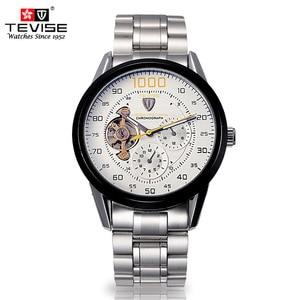 Image 4 - Herren uhren top brand luxus TEVISE Automatische Wicklung Tourbillon Mechanische Uhr Sport Militär Relogio Automatico Masculino