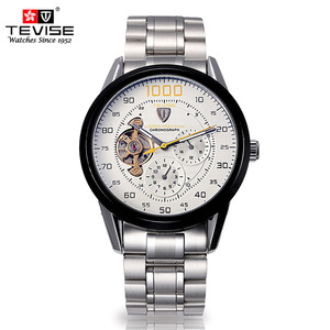 Image 4 - mens watches top brand luxury TEVISE Automatic Winding Tourbillon Mechanical Watch Sport Military Relogio Automatico Masculino