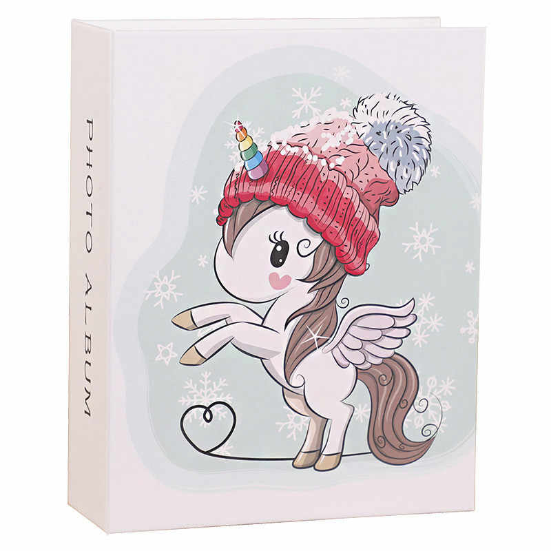The New 6 Inch Photo Album Cute Cartoon Image Storage Box Insert Page Album Lovers Children Wedding Memories Book Fotoalbum foto