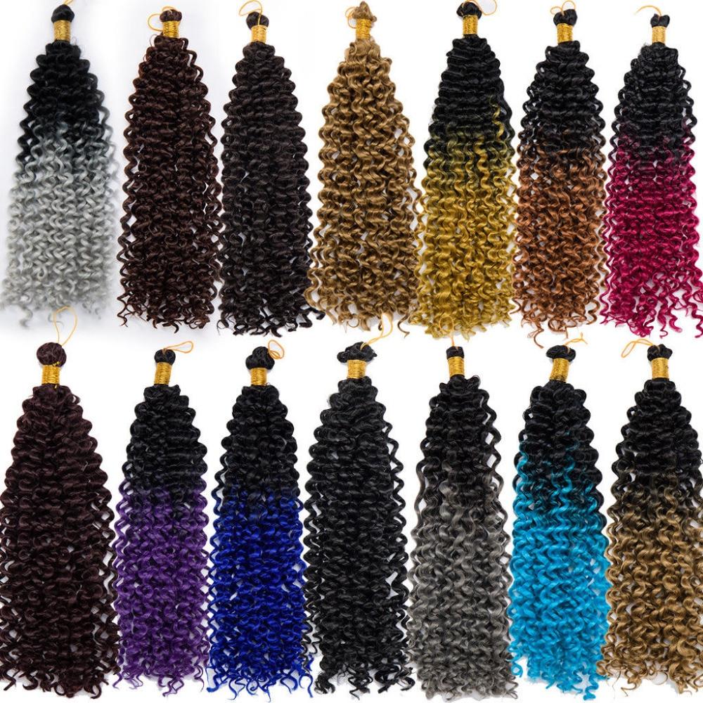 Snoilite 3 шт./5 шт./7 шт. волна воды ломбер крючком косы синтетических плетение волос ямайский отказов крючком волосы афро кудрявый косы ...
