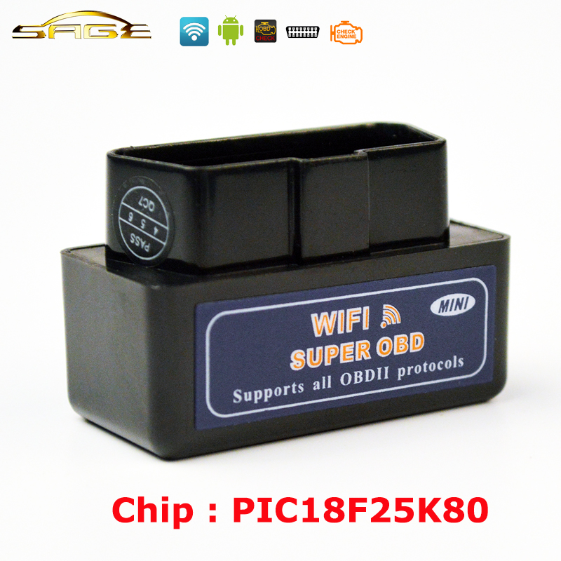 V1.5  Black / Blue / White MINI ELM327 WIFI OBD2 / OBDII ELM 327 for Android IOS Auto Scanner ps100 can obdii eobdii scanner for multiple brand vehicles