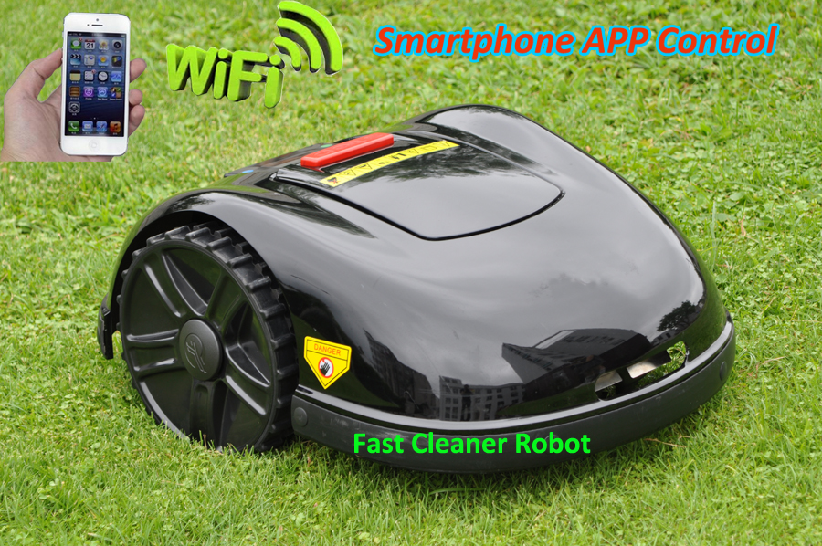 NEWEST GYROSCOPE Function Smartphone WIFI APP font b Robot b font Lawn Mower E1600T with Water