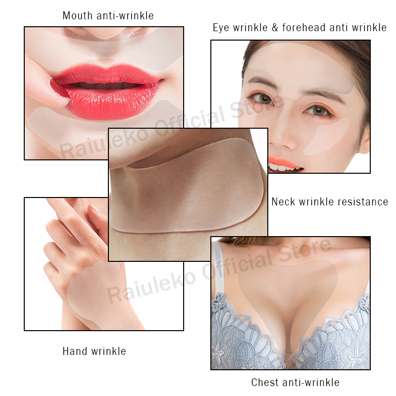 1PCS Anti Wrinkle Eye Face Pad Silicone Anti-wrinkle 100% Medical Grade Reusable Invisible Pads Eliminate Prevent Chest Wrinkle 4