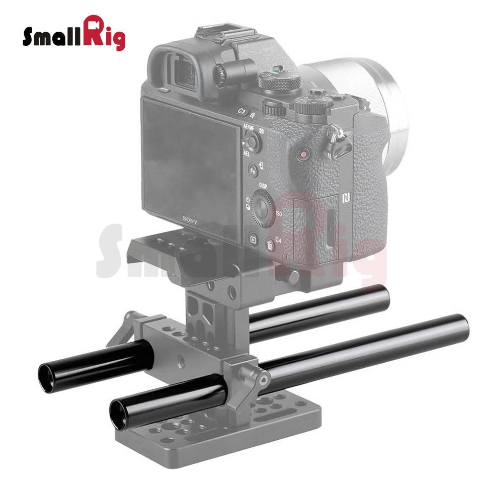 Prix pour Smallrig noir en alliage d'aluminium 15mm tige m12-20cm 8 pouce long (2 pack)-1051