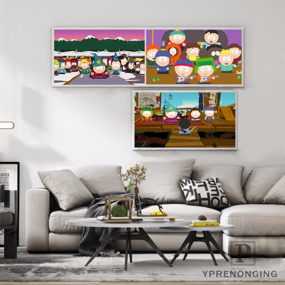 Custom South Park Combat Concept Poster Home Decor Canvas Printing Silk Fabric Print Wall Poster No Frame 180317@46