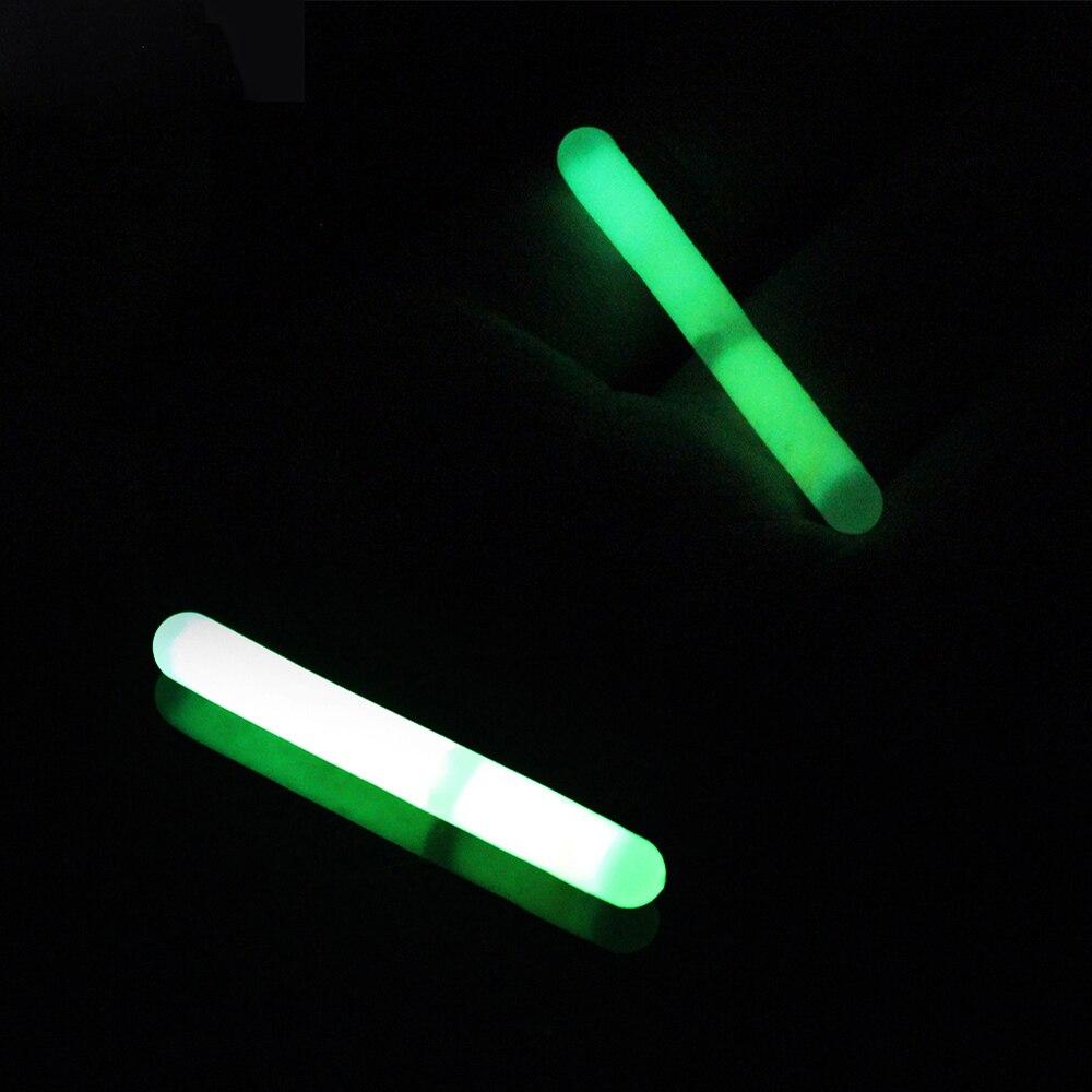 100pcs//lot Light Stick Fishing Fluorescent Lights Chemical Luminous Green Color