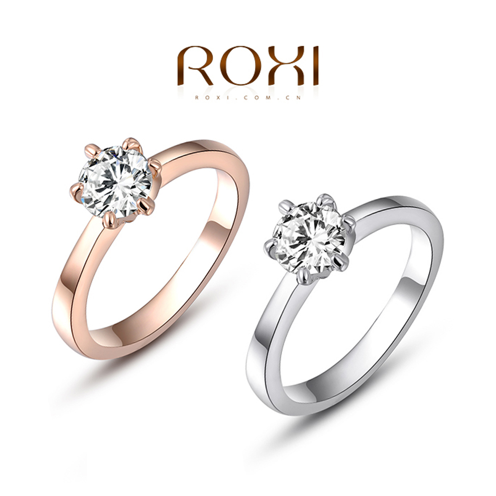 Roxi Hot New Fashion Jewelry Wedding Rings Gold Plated Ring Charm Jewelry  Rings For Women Wedding
