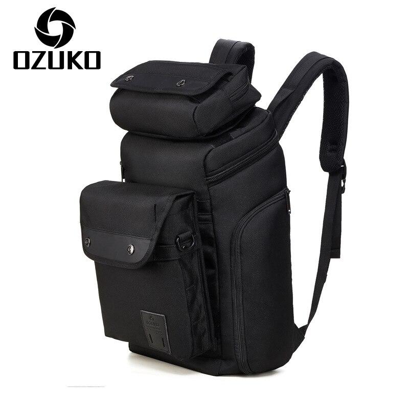 OZUKO trois-en-un multifonctionnel sac à dos pour hommes sac à bandoulière étanche sacs à dos décontractés créatif détachable sac à dos de voyage