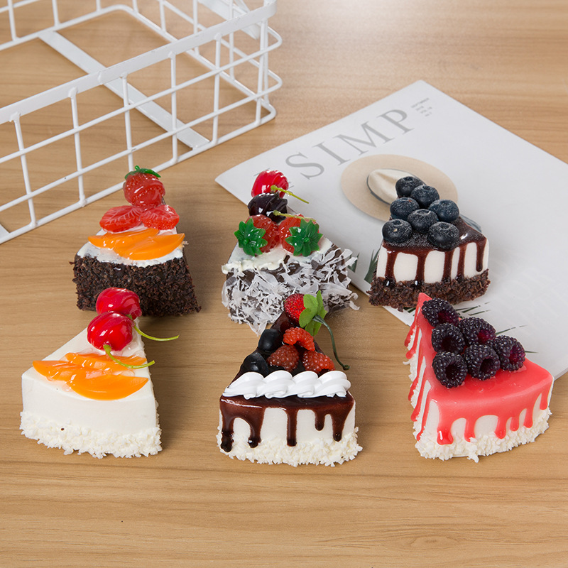 Fake cake cake shop decoration artificial food bread for bakery window display simulation decoration photo prop home decor in Artificial Foods Vegetables from Home Garden