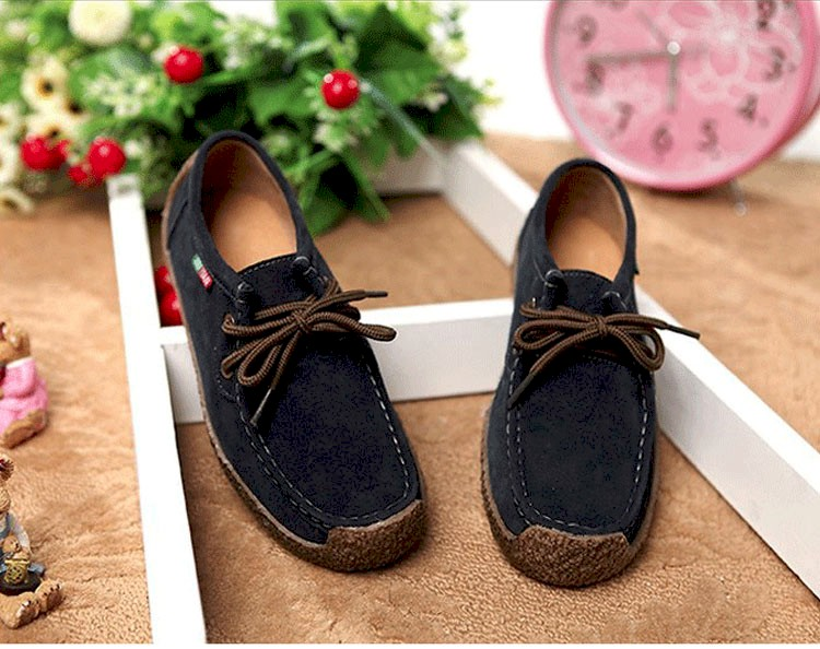 Summer style women casual shoes 2016 new fashion leather women shoes solid lace up flat shoes woman chaussure femme BT468 (14)