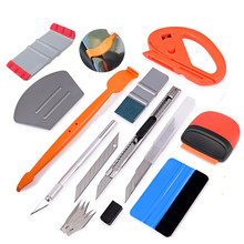 EHDIS Vinyl Wrap Car Tools Set Window Tint Auto Accessories Sticker Cutter Knife Carbon Foil Film Wrapping Squeegee Scraper Kit(China)