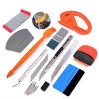 EHDIS envoltura de vinilo set de herramientas para el coche de tinte de ventana Auto accesorios etiqueta cortador de cuchillo de carbono de película de papel de escobilla de goma Kit rascador