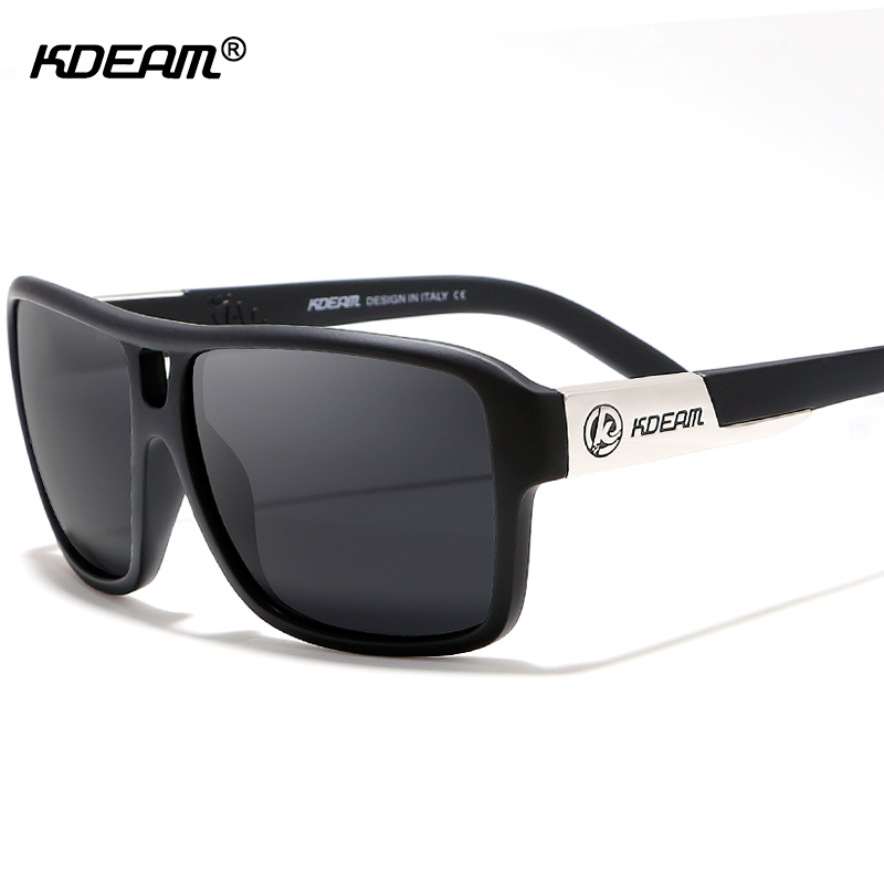 395aacbc6c3a KDEAM Reflecting Polarized Sunglasses Brand Jam High-intensity Sport Sun Glasses  Men With Black Hard