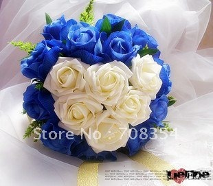 On Sale!Heart Shape Rose Brial Hand Flower with Riband/Wedding Throw Bouquet/Photography Props/Simulation Flower AH168