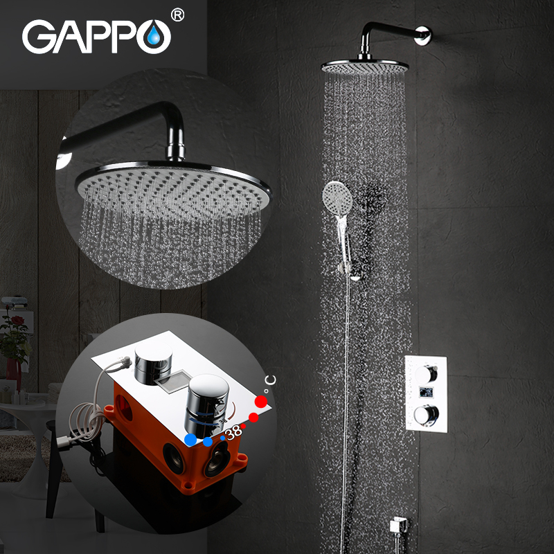 GAPPO Bathtub Faucets rain bath tub shower Faucets box mixer rainfall concealed shower mixer bathroom shower system             GAPPO Bathtub Faucets rain bath tub shower Faucets box mixer rainfall concealed shower mixer bathroom shower system
