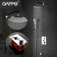 GAPPO Bathtub Faucets rain bath tub shower Faucets box mixer rainfall concealed shower mixer bathroom shower system