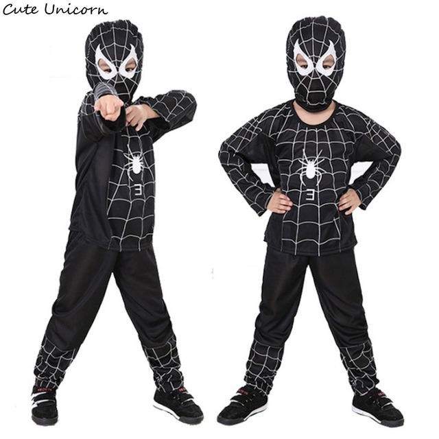 Superhero Black Spiderman halloween costumes for kids carnival cosplay costume children clothing boys clothes  sc 1 st  AliExpress.com & Superhero Black Spiderman halloween costumes for kids carnival ...