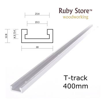 New 400mm(16inch) Standard T-track, Aluminum T track Miter Track, Jig Fixture Slot for Router Table Saw peng fa 35 steel t nut sleeve steel t type sliding nut milling working table fixing t bolts t slot nuts set t slots nut for t tr