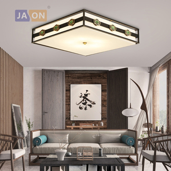 led e27 Chinese Copper Marble Square Black White LED Lamp.LED Light.Ceiling Lights.LED Ceiling Light.Ceiling Lamp For Foyer