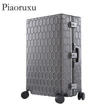 """Piaoruxu2"""" 26"""" 2"""" Алюминиевый Магниевый сплав багаж на колёсиках мужской деловой костюм на колесиках чехол металлический дорожный Чехол для женщин розовый"""