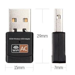 Image 4 - Wifi אות מקלט usb אלחוטי רשת כרטיס 600Mps dual band נייד מתאם משדר usb רשת מתאם wifi כרטיס