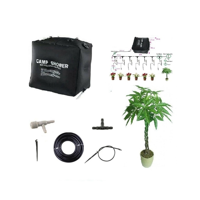 40L Home Micro Irrigation System Balcony Bonsai Flower Drip Irrigation Self-acting Watering Kits For 8 Flower Pots 50 Days