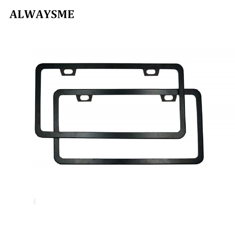 Alwasyme 1pcs Universal Fits All Canada Can Us America Standard License Plates Frame Covers Stainless Steel Black White Color In Plate From