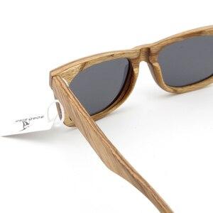 Image 5 - ボボ鳥の木のサングラスブランドのデザイナー茶色の木製サングラススタイル正方形サングラスmasculinoドロップシッピングのoem
