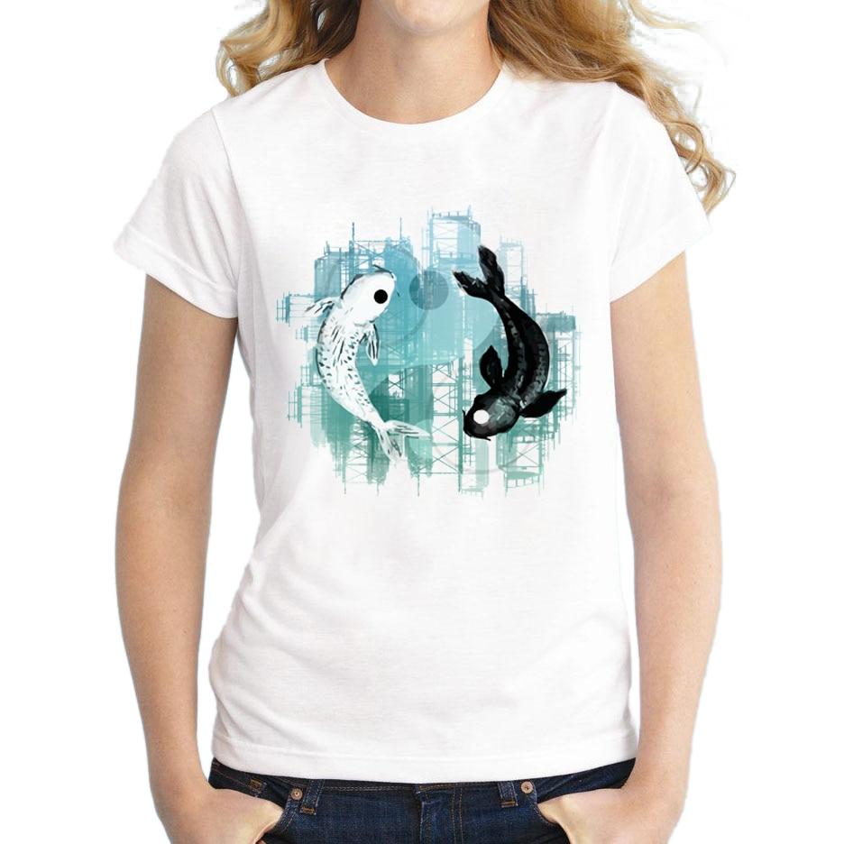 Buy 2017 Custom Women White T Shirt Yin