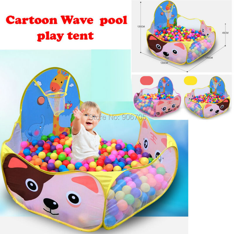 Lovely Cartoon wave play tent shooting pool Ocean Ball Pit Pool Game Indoor Outdoor Easy Folding Ball Pit Hideaway play house