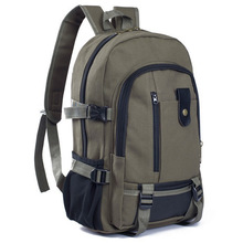 Canvas Both Shoulders Package Will Capacity Outdoors Travelling Bag Male College Student Travel anti theft Backpack