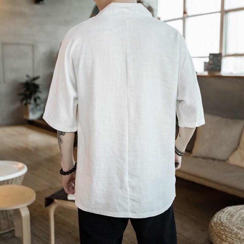 Broderie Blanc Fit Manches À Taille New Summer Lin Black Plus En Vintage 5xl V Noir white Casual Col shirt T Tops Hommes Vrac Courtes Shirt T 6rwtaBqt