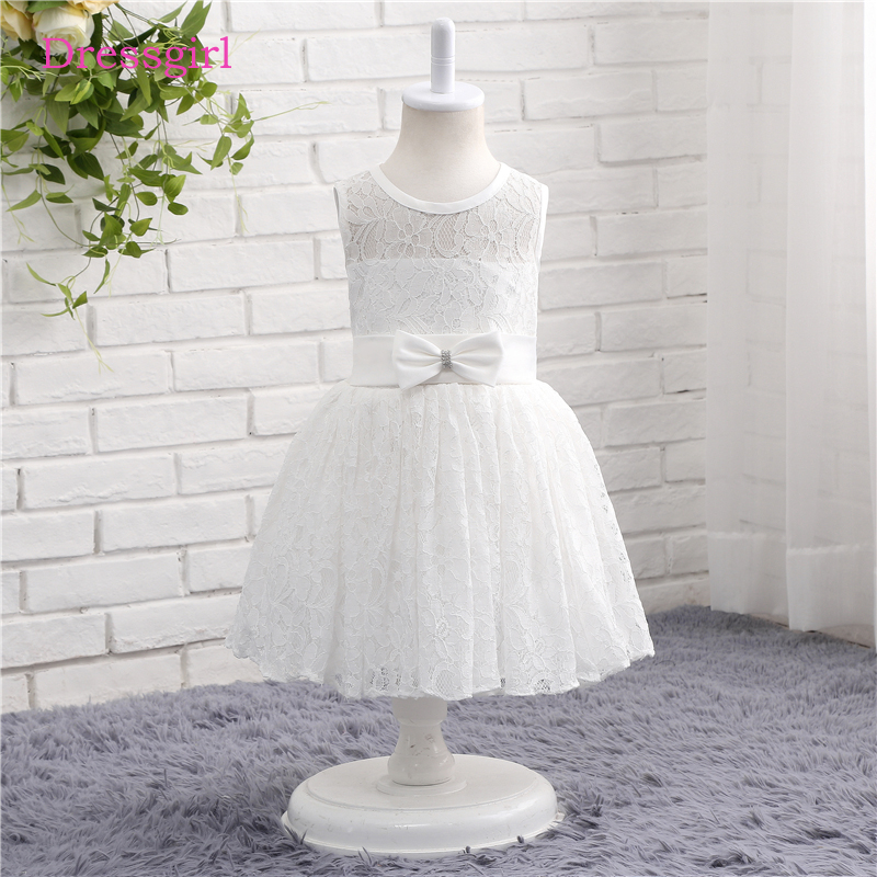 White 2018 flower girl dresses for weddings a line scoop cap sleeves white 2018 flower girl dresses for weddings a line scoop cap sleeves lace bow first communion dresses for little girls mightylinksfo