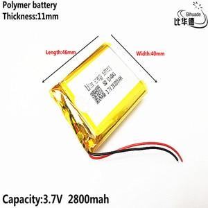 Image 5 - 3.7 V 2800 mAh 114046 ליתיום פולימר ליטיום li יון נטענת סוללה תאים עבור Mp3 MP4 MP5 GPS