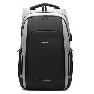 anti theft laptop backpack ash