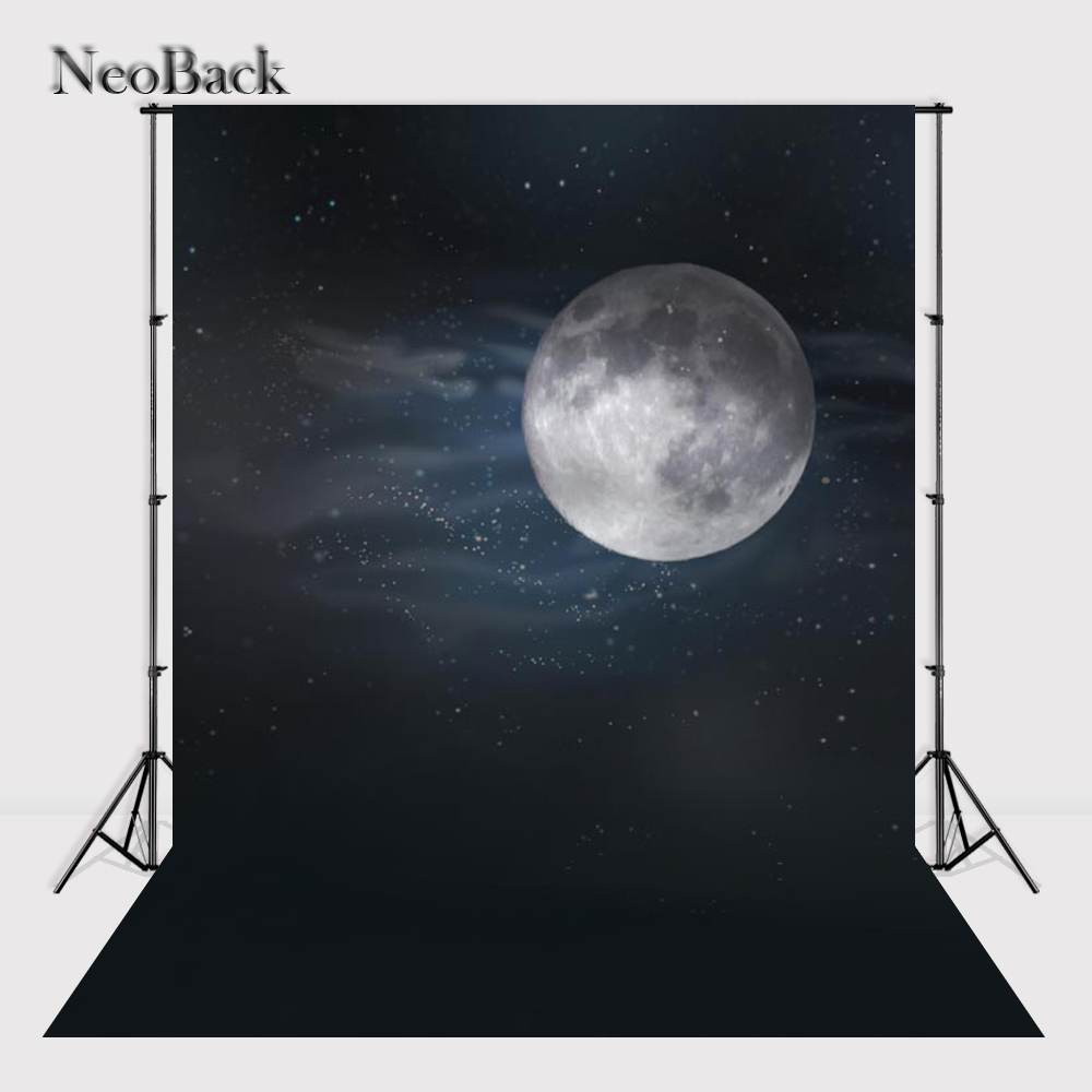 NeoBack NeoBack 5x7ft vinyl Moon lighte view new born baby photo backgrounds Printed Children kids Backdrops A0774