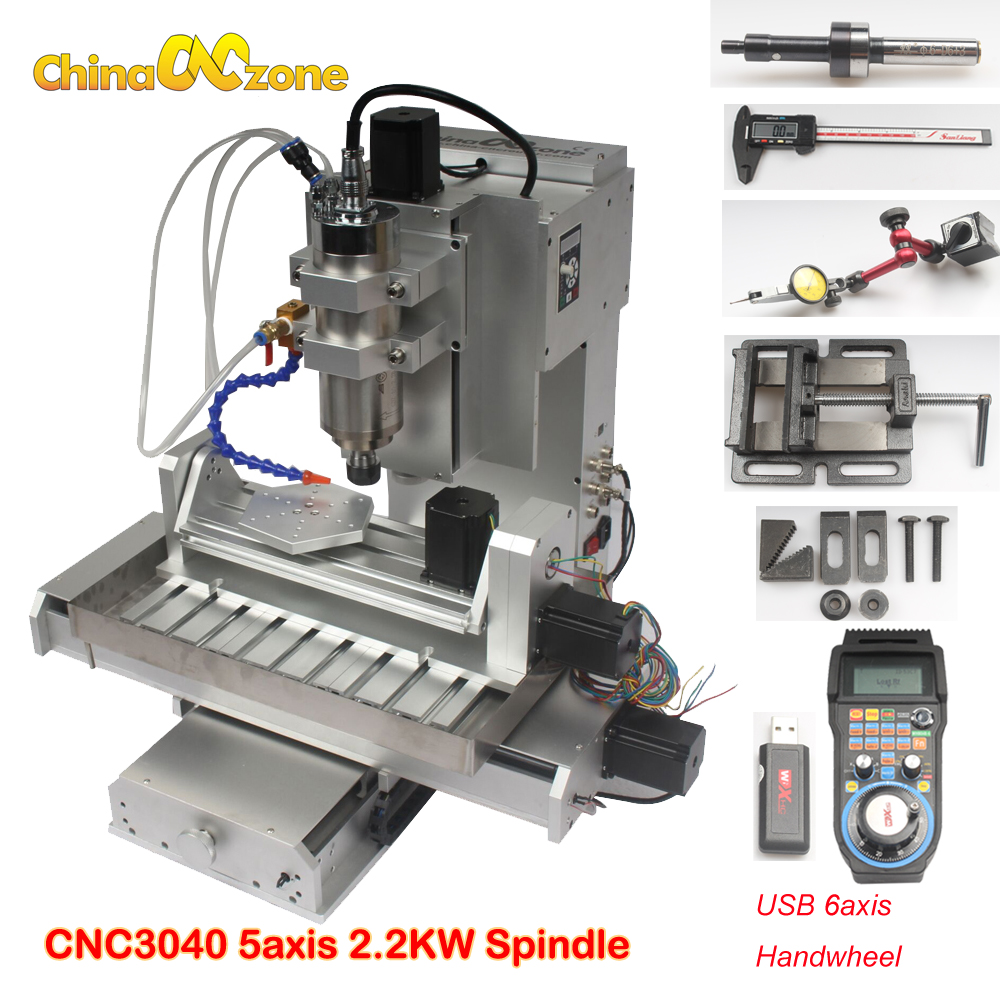 CNC router 5 axis 3040 mini CNC milling machine 2.2KW CNC carving machine with 2.2KW + water sink for metal woodwork 3 axis cnc machine 3040 cnc 800w usb port metal engraving machine with water sink