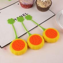 Creative Cute Fruits Shape Sunflower Silicone Tea Bag Holder Cup Mug Hanging Tool Leaf Strainer Floating Filter Basket DV