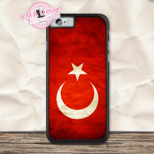 Retro Turkey National Flag Protective Case For iPhone X 8 7 6 6s Plus 5 5s SE 5c 4 4s For iPod Touch