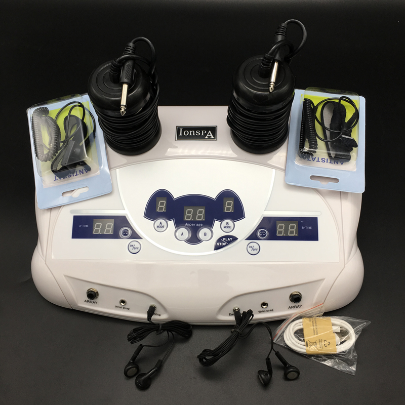 Dual system ion detox foot spa with high quality high quality colorful lcd display ion detox foot spa 8802a