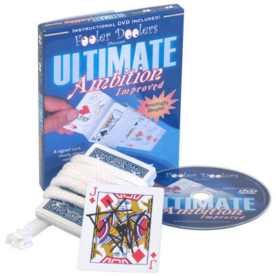 Ultimate Ambition Improved (DVD+Gimmick) - Card Magic Tricks,party magic,stage/close up,comedy,Accessories nick lewin s ultimate electric chair and paper balls over head magic tricks