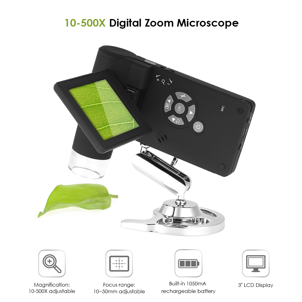 Digital Microscope Professional endoscope Mobile 3 5M 10 500X up to 1200x By Digital Magnification Photo