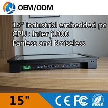 Fanless and noiseless 15 industrial PC touch screen pc Resolution 1024x768 with J1900 1 99GHz cpu
