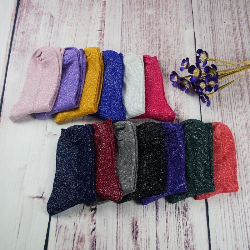 Nouvelles chaussettes épaisses 9-11 hiver coton solide ligne chaussettes pour filles et femmes 2019K-1-2019K-8